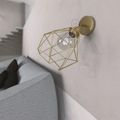 Fermaluce Metallo 90° podesiva zidna reflektor lampa sa završnom obradom od mesinga i sjenilom Dijamant