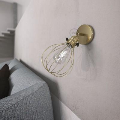 Fermaluce Metallo 90° podesiva zidna reflektor lampa sa završnom obradom od mesinga i sjenilom Drop