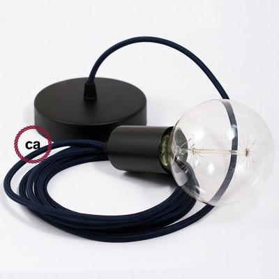 Viseća lampa s tekstilnim kabelom RM20 - Tamno Plavi rajon