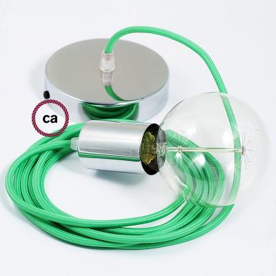 Viseća lampa s tekstilnim kabelom RM18 - Limeta Zeleni rajon