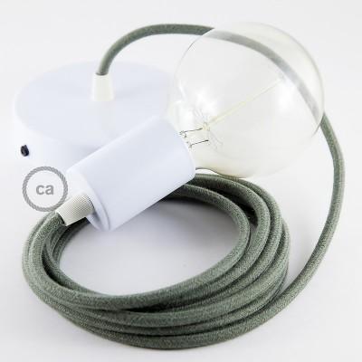 Viseća lampa s tekstilnim kabelom RC63 - Sivo-Zeleni Pamuk