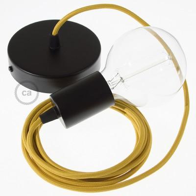 Viseća lampa s tekstilnim kabelom RM25 - Senf Žuti rajon
