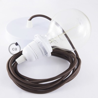 Viseća lampa za sjenilo s tekstilnim kabelom RM13 - Braon rajon