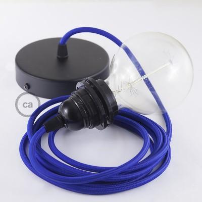 Viseća lampa za sjenilo s tekstilnim kabelom RM12 - Plavi rajon