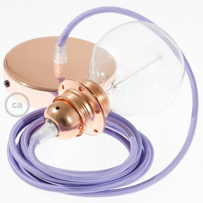 Viseća lampa za sjenilo s tekstilnim kabelom RM07 - Lila rajon