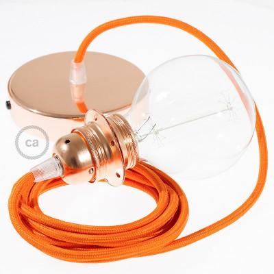 Viseća lampa za sjenilo s tekstilnim kabelom RM15 - Narančasti rajon