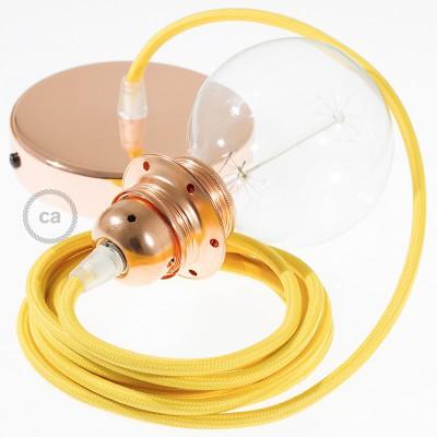 Viseća lampa za sjenilo s tekstilnim kabelom RM10 - Žuti rajon