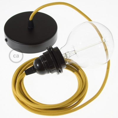 Viseća lampa za sjenilo s tekstilnim kabelom RM25 - Senf Žuti rajon