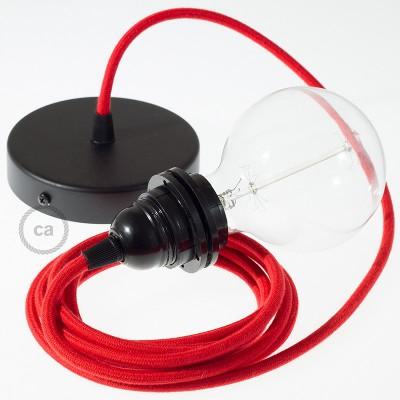 Viseća lampa za sjenilo s tekstilnim kabelom RC35 - Vatreno Crveni Pamuk
