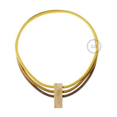 Ogrlica Circles u bojama: senf žuta RM25, Whiskey RM22 i blještavo smeđa RL13