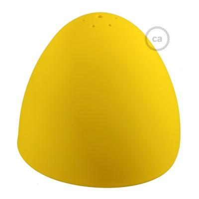 Silikonsko sjenilo za svjetiljku, žute boje, s difuzorom svjetla i stezaljkom. Promjer 25 cm.