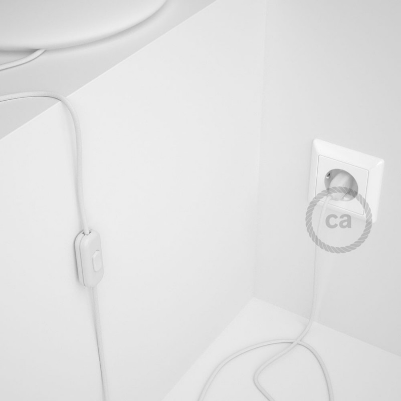 Komplet s prekidačem RM01 Bijeli - 1,8 m. odaberite boju prekidača i utikača!