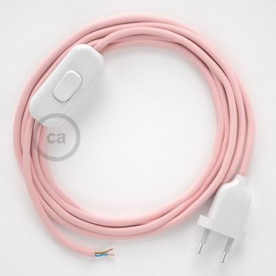 Komplet s prekidačem RM16 Baby Pink - 1,8 m. odaberite boju prekidača i utikača!