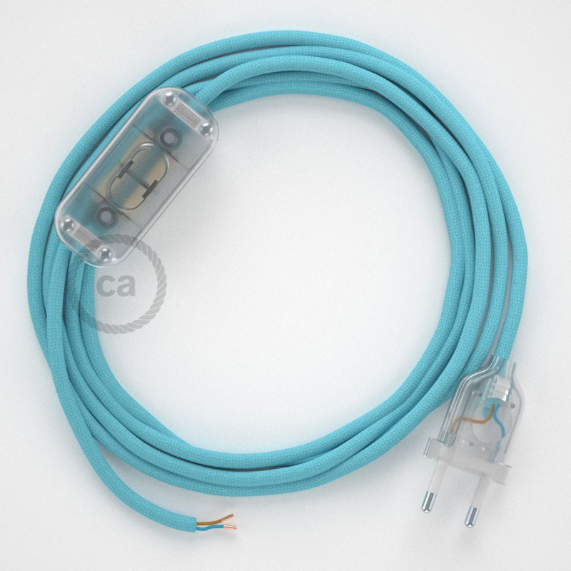 Komplet s prekidačem RM17 Baby Blue - 1,8 m. odaberite boju prekidača i utikača!