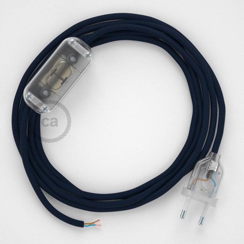 Komplet s prekidačem RM20 Tamno Plavi - 1,8 m. odaberite boju prekidača i utikača!