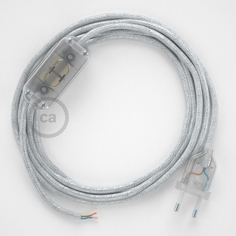 Komplet s prekidačem RL01 Blještavo Bijeli - 1,8 m. odaberite boju prekidača i utikača!