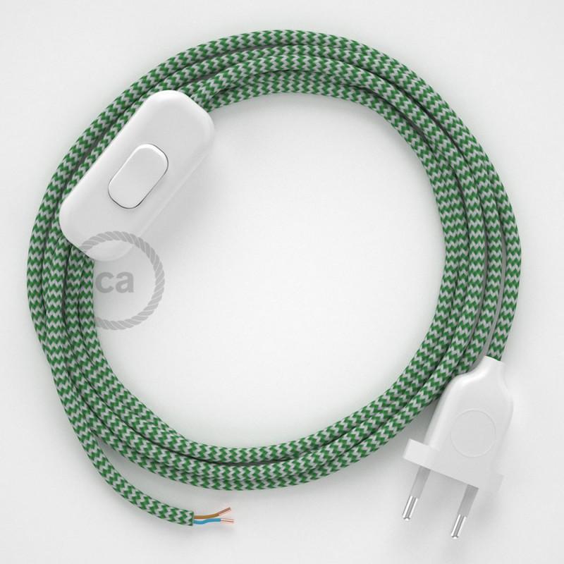 Komplet s prekidačem RZ06 Cik-Cak Zeleni - 1,8 m. odaberite boju prekidača i utikača!