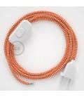 Komplet s prekidačem RZ15 Cik-Cak Narančasti - 1,8 m. odaberite boju prekidača i utikača!