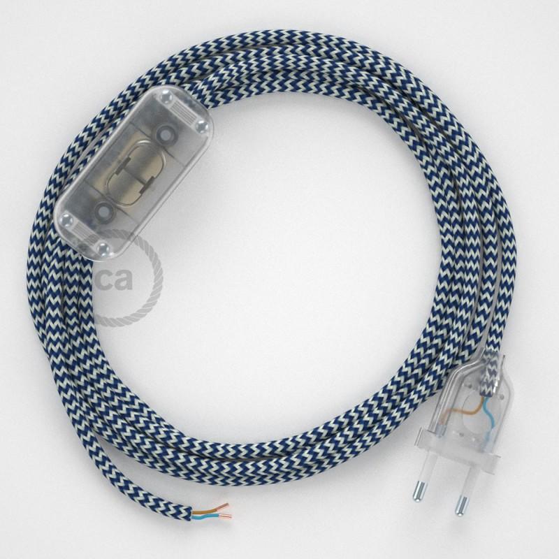 Komplet s prekidačem RZ12 Cik-Cak Plavi - 1,8 m. odaberite boju prekidača i utikača!