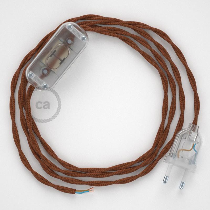 Komplet s prekidačem TC23 Jelenje Smeđi Pamuk - 1,8 m. odaberite boju prekidača i utikača!
