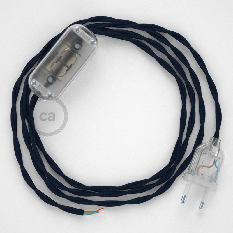 Komplet s prekidačem TM20 Tamno Plavi - 1,8 m. odaberite boju prekidača i utikača!