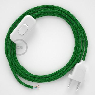 Komplet s prekidačem RL06 Zeleni - 1,8 m. odaberite boju prekidača i utikača!