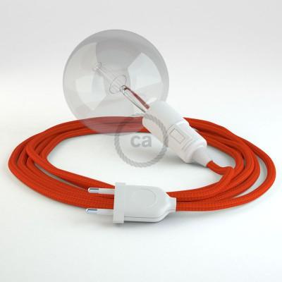 """Kreirajte svoju viseću lampu """"Snake"""" RM15 Narančasti rajon i unesite svjetlo gdje god želite."""