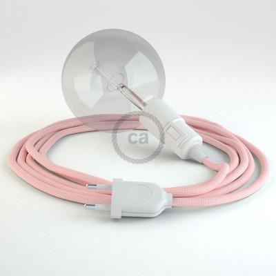 """Kreirajte svoju viseću lampu """"Snake"""" RM16 Baby Pink rajon i unesite svjetlo gdje god želite."""