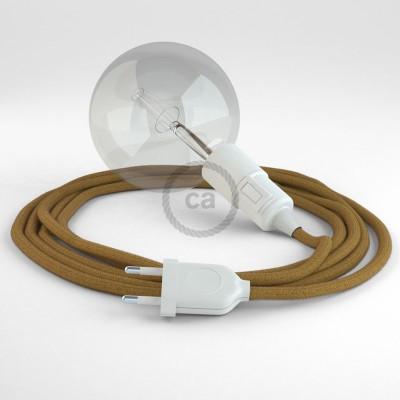"""Kreirajte svoju viseću lampu """"Snake"""" RC31 Medeno-Zlatni Pamuk i unesite svjetlo gdje god želite."""