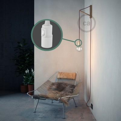 """Kreirajte svoju viseću lampu """"Snake"""" RC32 Bordo Pamuk i unesite svjetlo gdje god želite."""