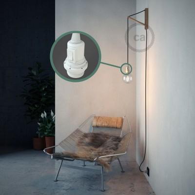 """Kreirajte svoju viseću lampu """"Zmija"""" za sjenilo RC04 Crni Pamuk i unesite svjetlo gdje god želite."""