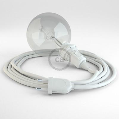 """Kreirajte svoju viseću lampu """"Zmija"""" za sjenilo RM01 Bijeli rajon i unesite svjetlo gdje god želite."""