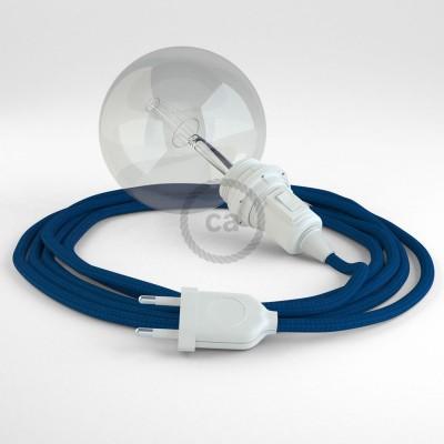 """Kreirajte svoju viseću lampu """"Zmija"""" za sjenilo RM12 Plavi rajon i unesite svjetlo gdje god želite."""