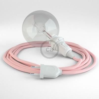 """Kreirajte svoju viseću lampu """"Zmija"""" za sjenilo RM16 Baby Pink rajon i unesite svjetlo gdje god želite."""