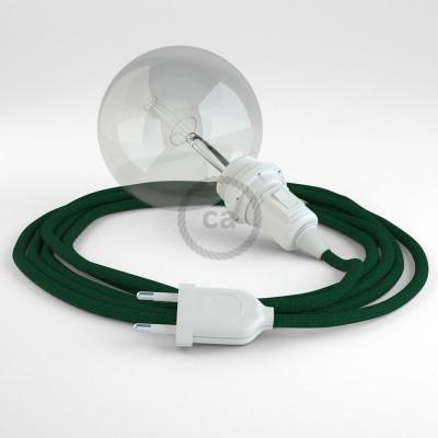 """Kreirajte svoju viseću lampu """"Zmija"""" za sjenilo RM21 Tamno Zeleni rajon i unesite svjetlo gdje god želite."""