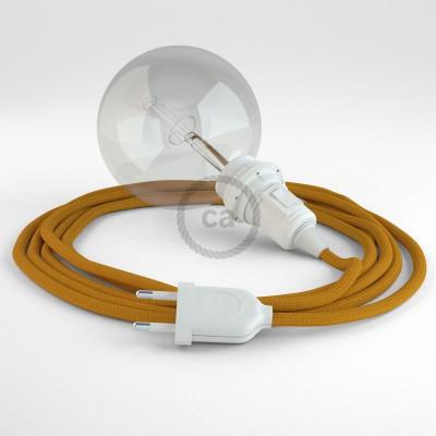 """Kreirajte svoju viseću lampu """"Zmija"""" za sjenilo RM25 Senf Žuti rajon i unesite svjetlo gdje god želite."""