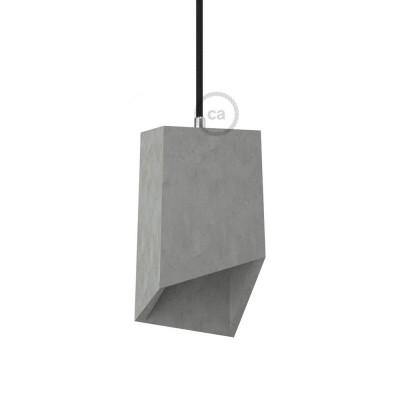 Prizma, sjenilo iz cementa s obujmicom i grlom E27