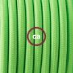 Komplet s podnim prekidačem RF06 Zeleni Fluo rajon - 3 m. Odaberite boju prekidača i utikača!