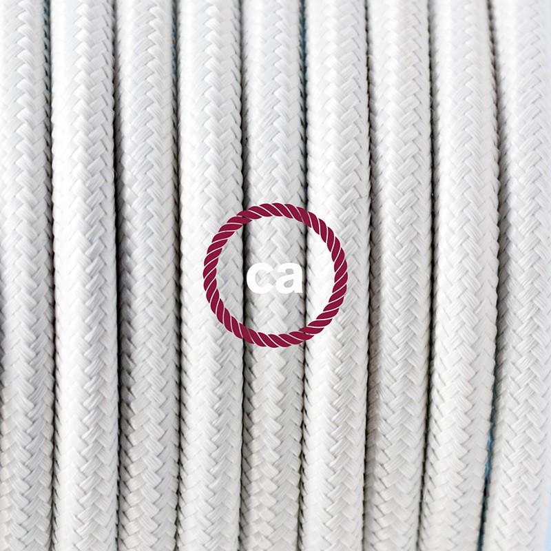 Komplet s podnim prekidačem RM01 Bijeli rajon - 3 m. Odaberite boju prekidača i utikača!