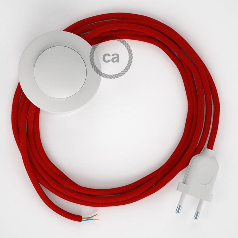 Komplet s podnim prekidačem RM09 Crveni rajon - 3 m. Odaberite boju prekidača i utikača!