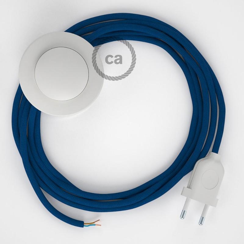 Komplet s podnim prekidačem RM12 Plavi rajon - 3 m. Odaberite boju prekidača i utikača!