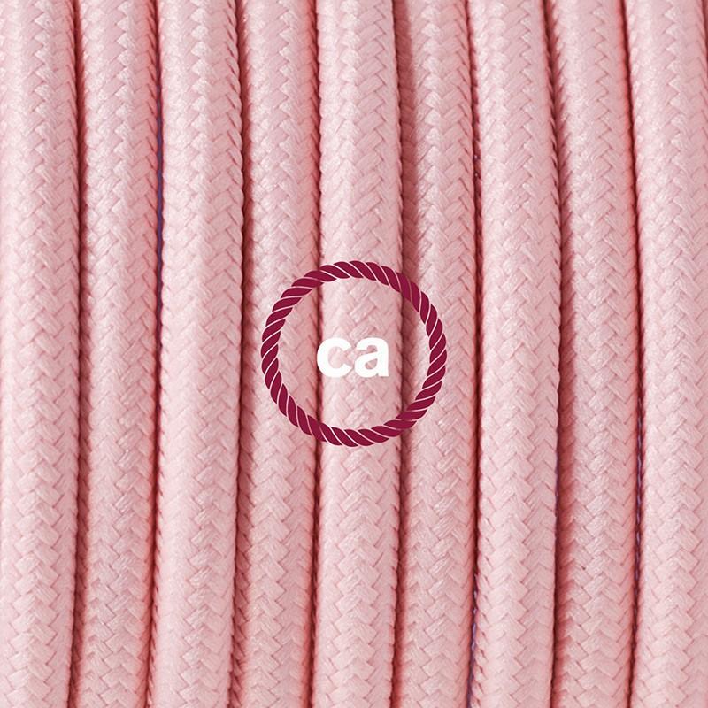 Komplet s podnim prekidačem RM16 Baby Pink rajon - 3 m. Odaberite boju prekidača i utikača!