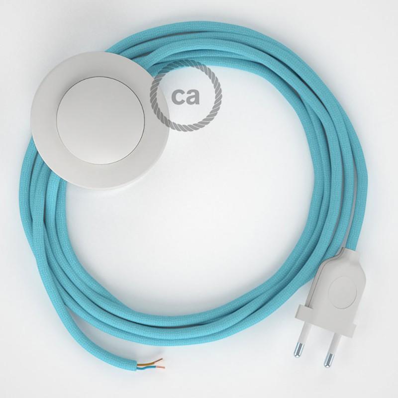 Komplet s podnim prekidačem RM17 Baby Blue rajon - 3 m. Odaberite boju prekidača i utikača!