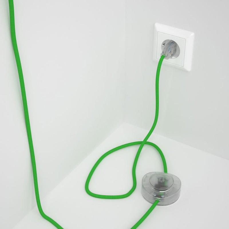 Komplet s podnim prekidačem RM18 Limeta Zeleni rajon - 3 m. Odaberite boju prekidača i utikača!