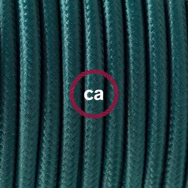 Komplet s podnim prekidačem RM21 Tamno Zeleni rajon - 3 m. Odaberite boju prekidača i utikača!
