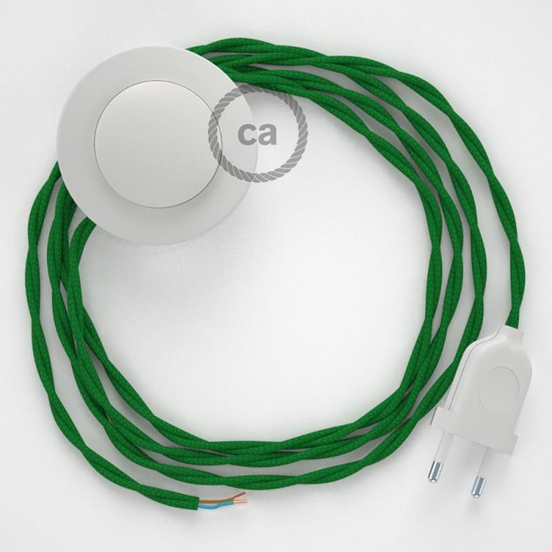 Komplet s podnim prekidačem TM06 Zeleni rajon - 3 m. Odaberite boju prekidača i utikača!