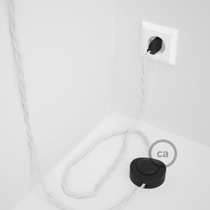 Komplet s podnim prekidačem TM01 Bijeli rajon - 3 m. Odaberite boju prekidača i utikača!