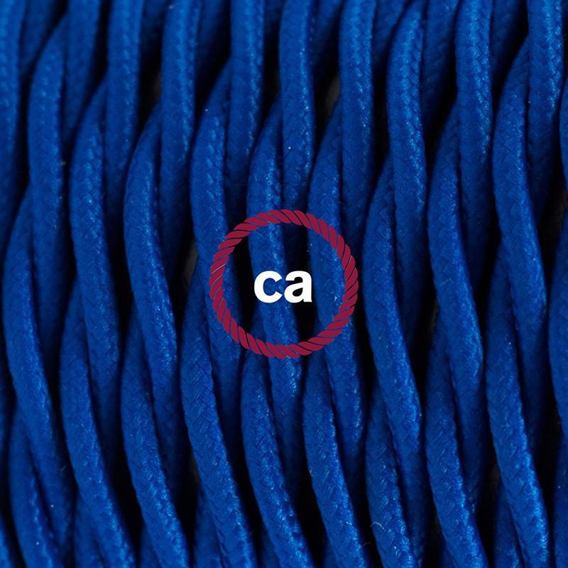 Komplet s podnim prekidačem TM12 Plava rajon - 3 m. Odaberite boju prekidača i utikača!