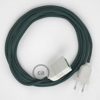 Produžni kabel za napajanje (2P 10A) Kameno Sivi Pamuk RC30 - Made in Italy