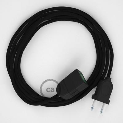 Produžni kabel za napajanje (2P 10A) Crni Rajon RM04 - Made in Italy